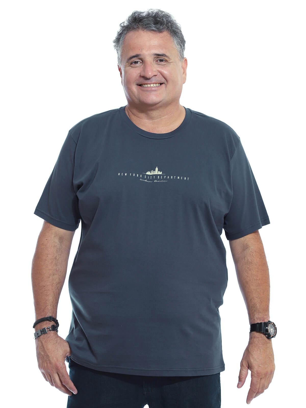 Camiseta Plus Size Anistia New York Grafite