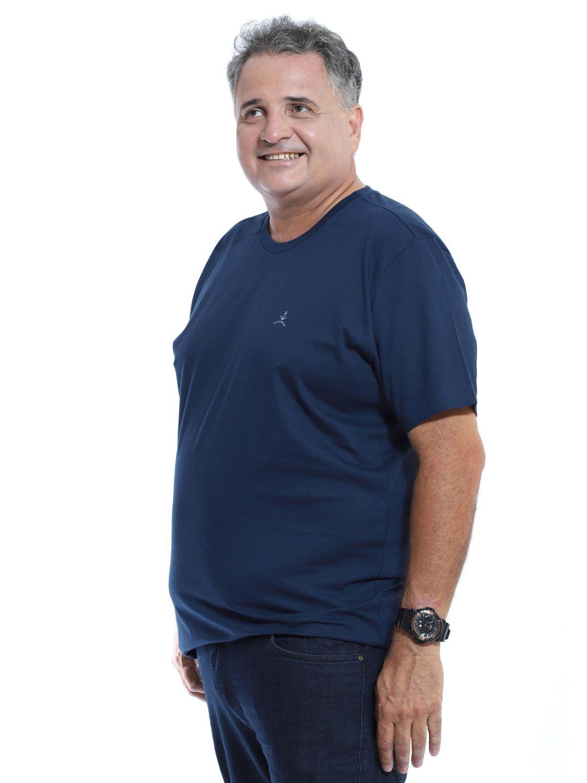 Camiseta Plus Size Anistia Sea Marinho