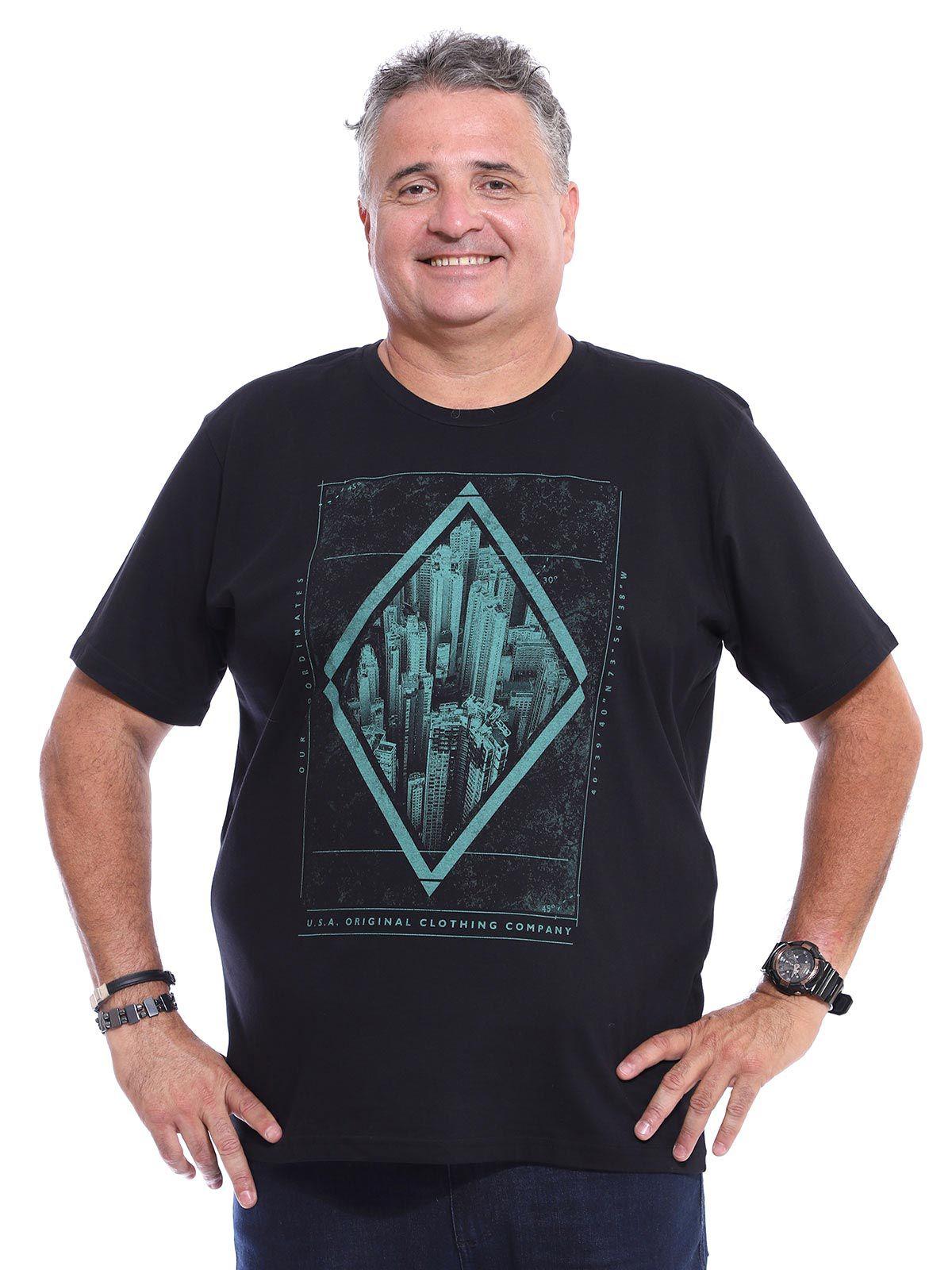 Camiseta Plus Size Anistia South Preto