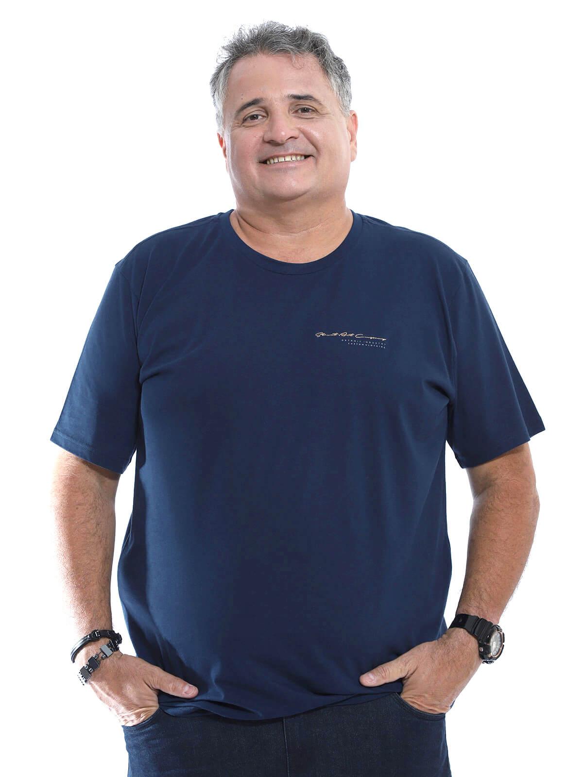 Camiseta Plus Size Anistia Street Marinho