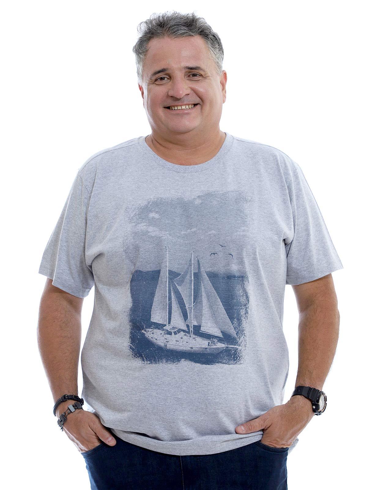 Camiseta Plus Size Anistia U.S.A. Mescla