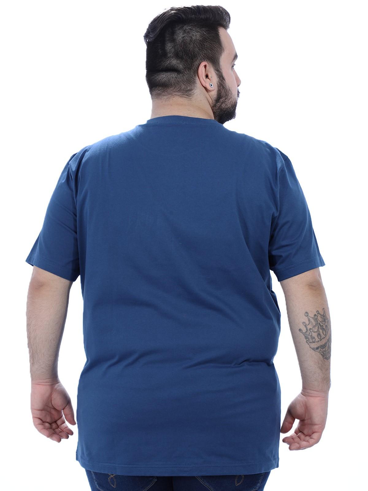 Camiseta Plus Size Careca Hunter Anistia Azul Jeans