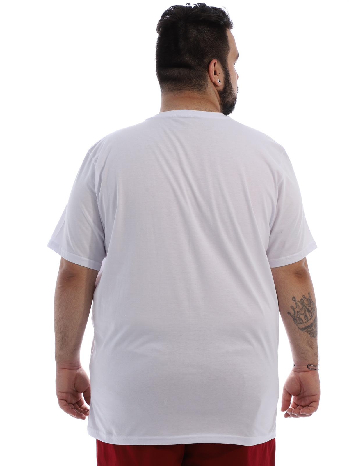 Camiseta Plus Size Lisa Masculino Básica Algodão Branca