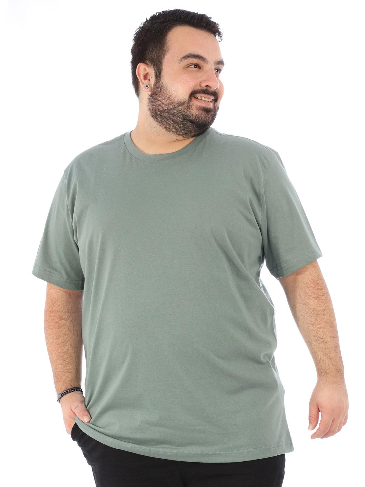 Camiseta Plus Size Lisa Masculino Básica Algodão Concreto