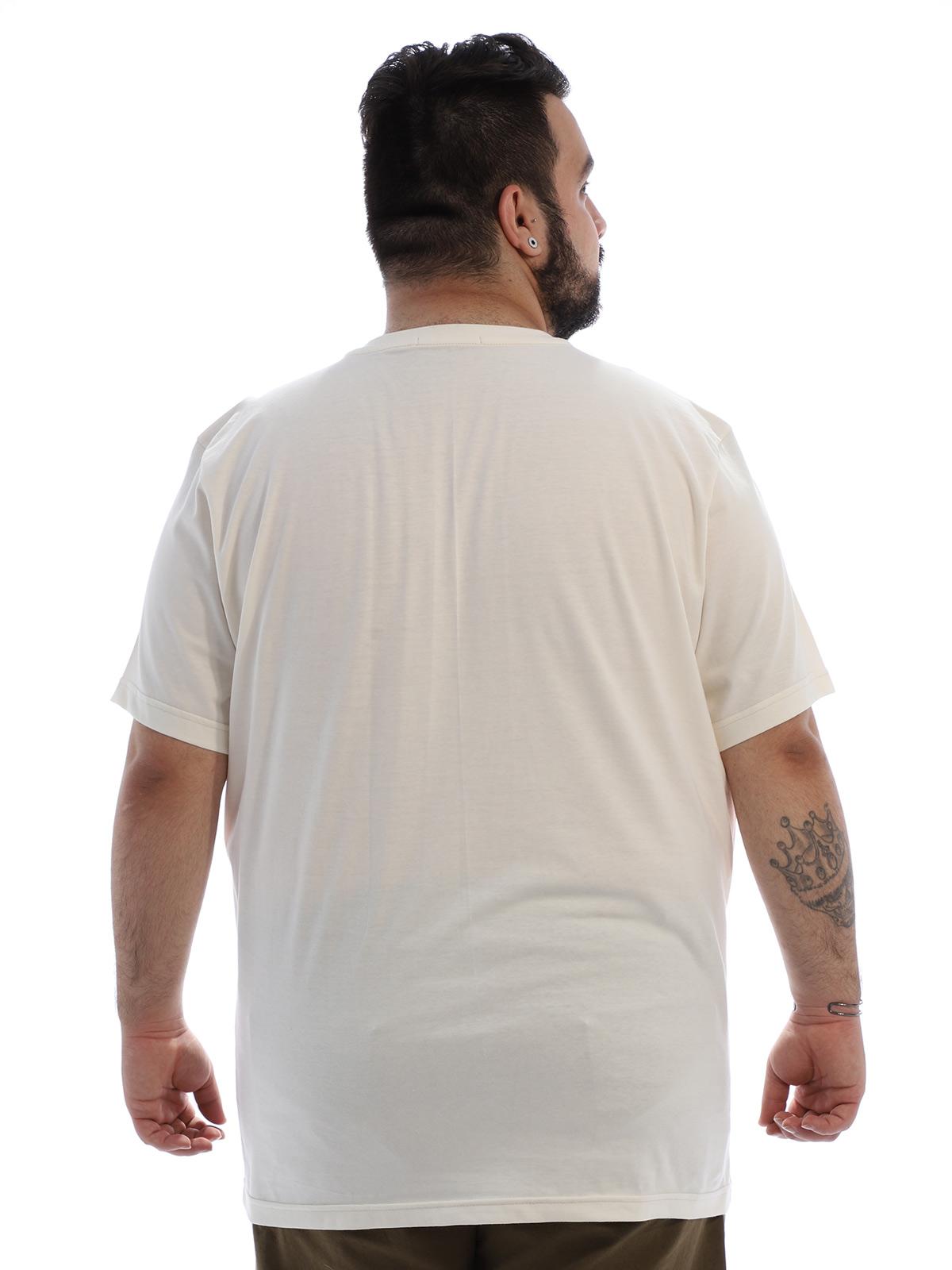 Camiseta Plus Size Masculina Algodão Anistia Caktos Marfim