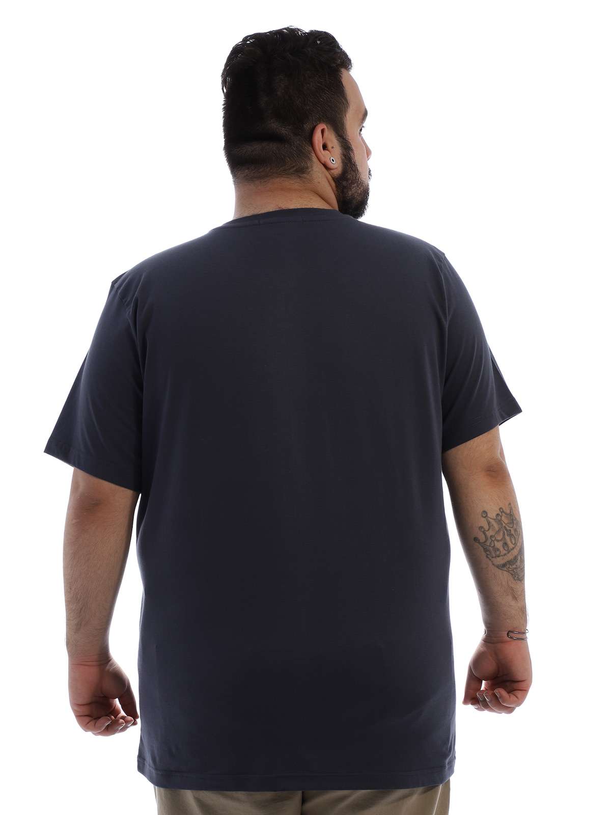 Camiseta Plus Size Masculina Algodão Anistia Leão Grafite