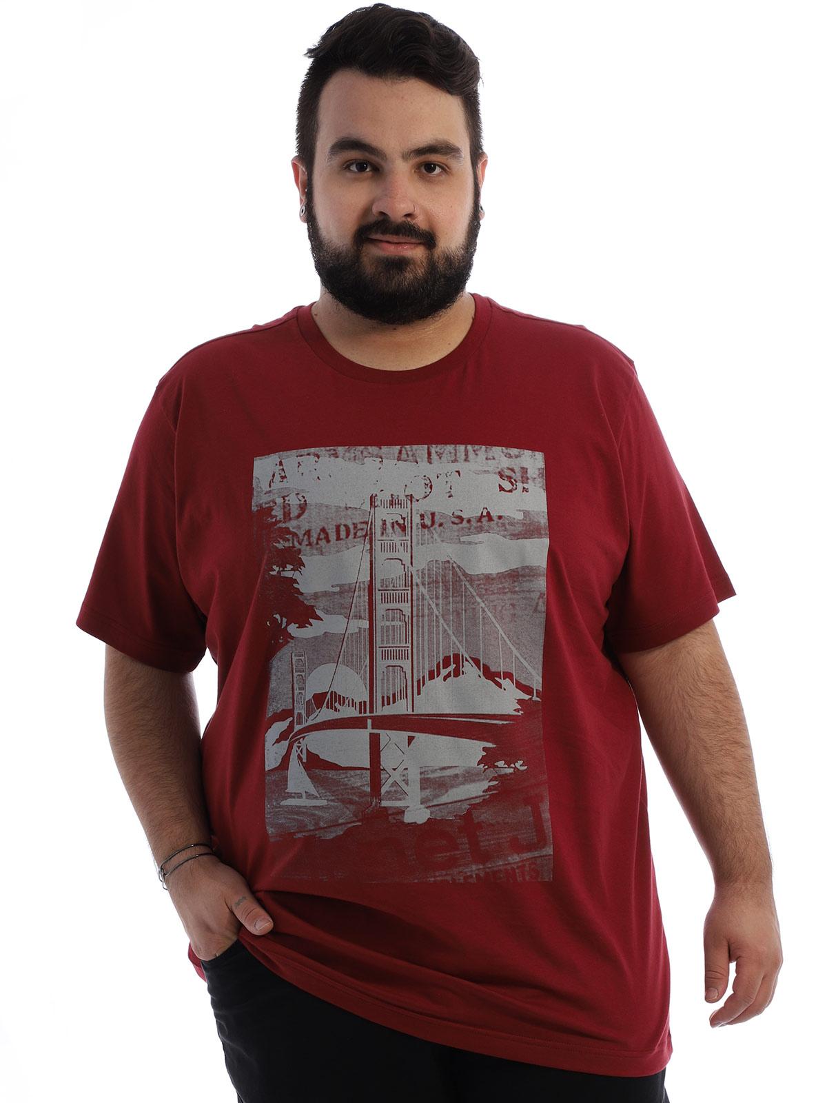 Camiseta Plus Size Masculina Algodão Manga Curta Ponte Bordo