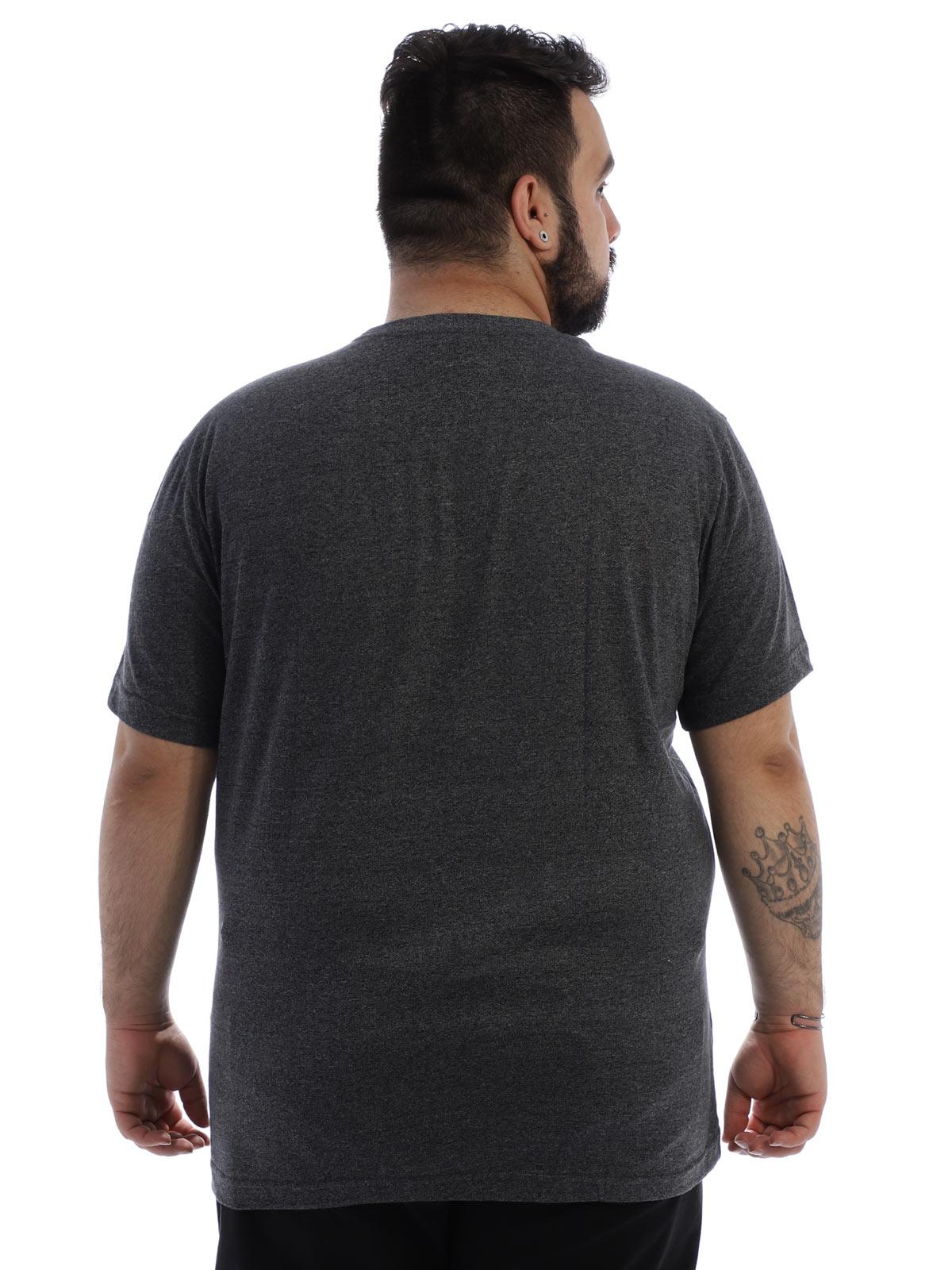 Camiseta Plus Size Masculina Algodão Mouline Nature Preto