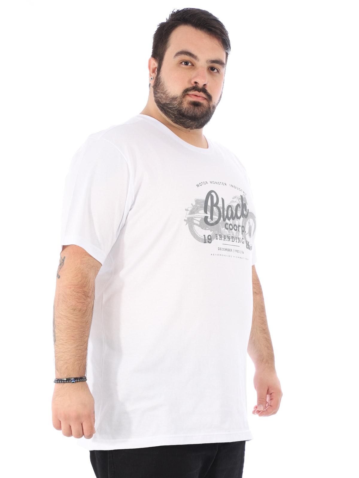 Camiseta Plus Size Masculina Estampa Black Anistia Branca