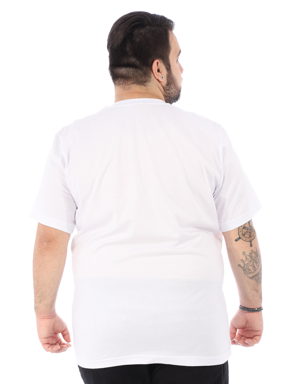Camiseta Plus Size Masculina Estampada Bear Anistia Branca