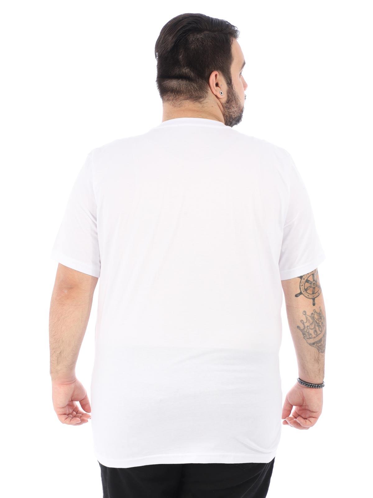 Camiseta Plus Size Masculina Manga Curta City Branca