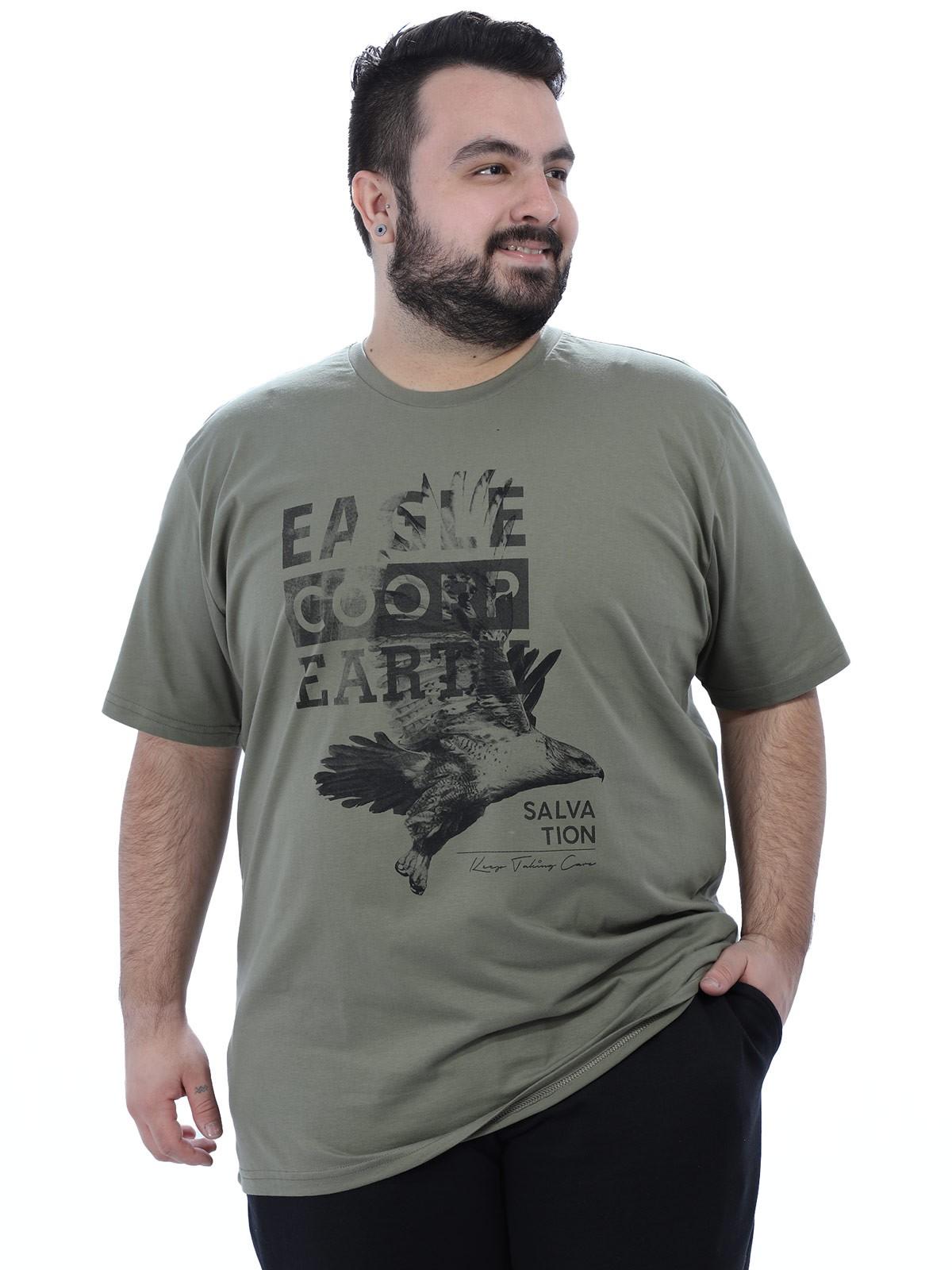 Camiseta Plus Size Masculino Eagle Anistia Bambú