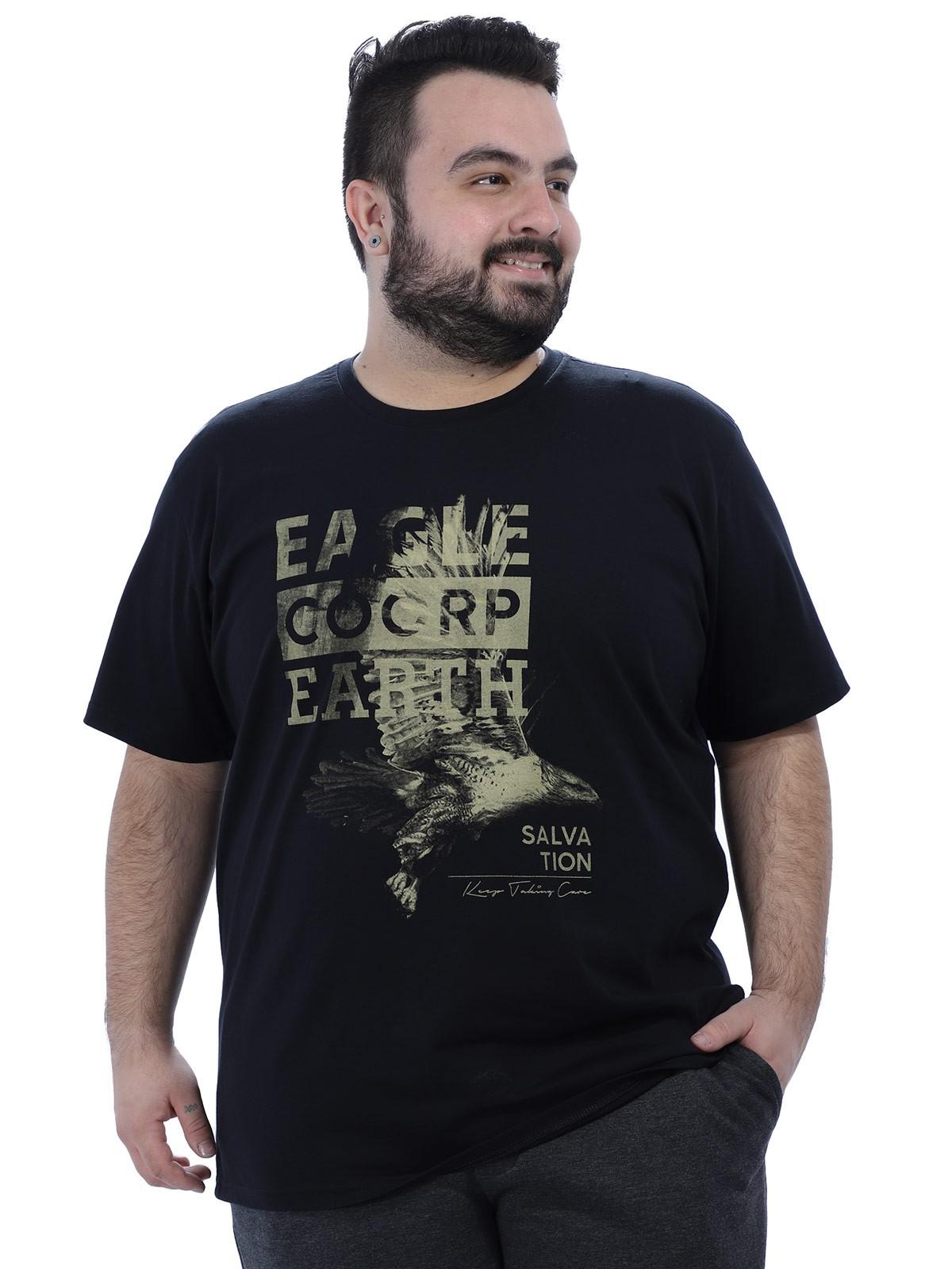 Camiseta Plus Size Masculino Eagle Anistia Preta