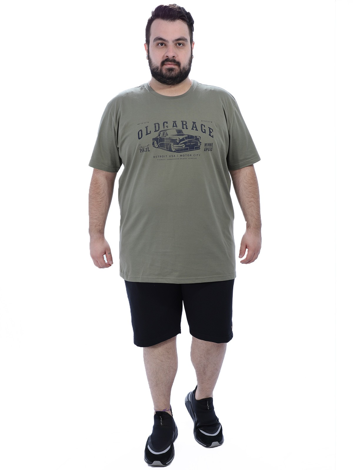Camiseta Plus Size Masculino Garage Anistia Bambú