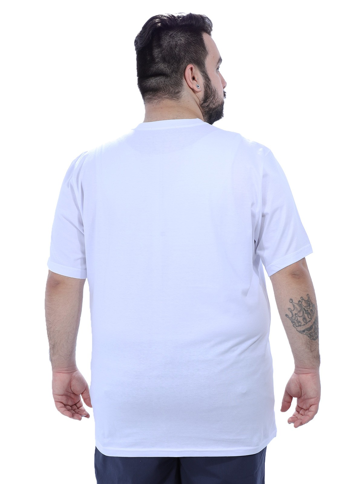 Camiseta Plus Size Masculino Lisa Branca