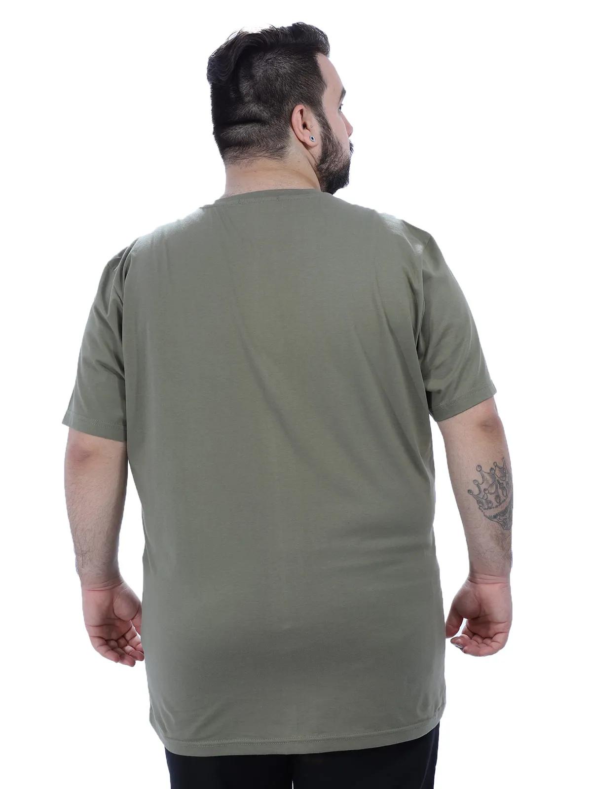 Camiseta Plus Size Masculino Manga Curta Gola Careca Bambú