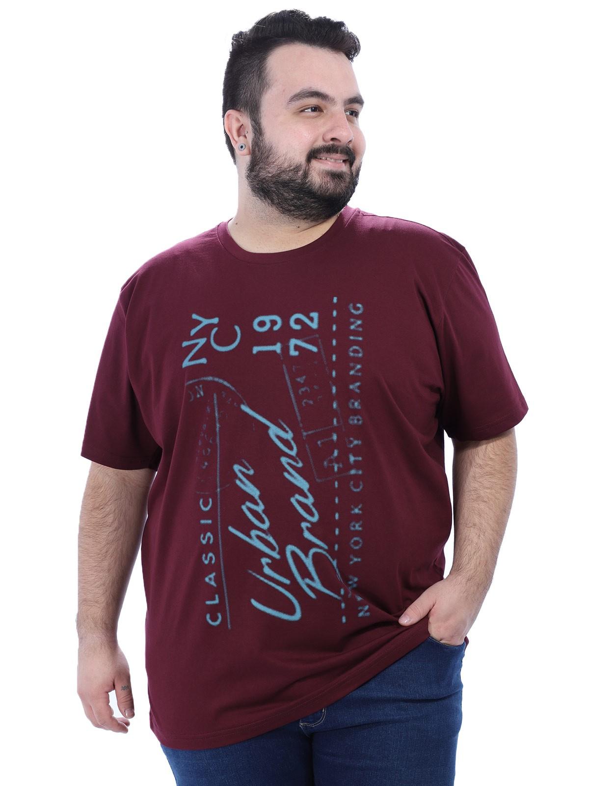 Camiseta Plus Size Masculino Urban Anistia Vinho