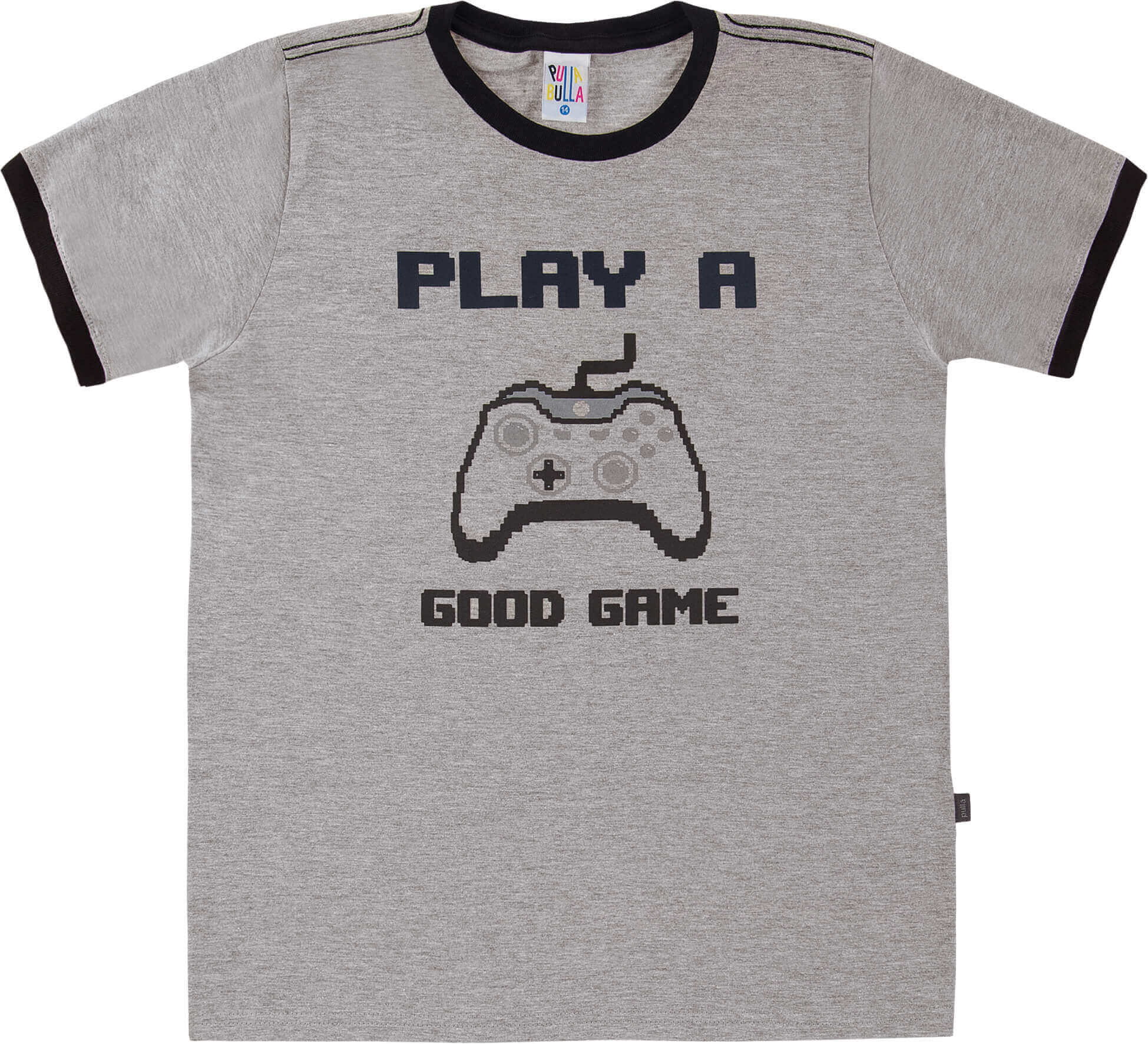 Camiseta  Pulla Bulla Good Games Cinza