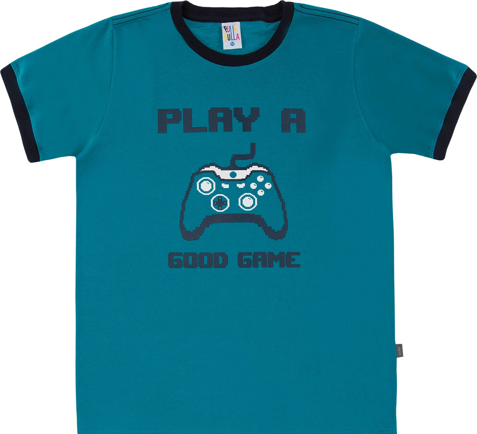 Camiseta  Pulla Bulla Good Games Cobalto
