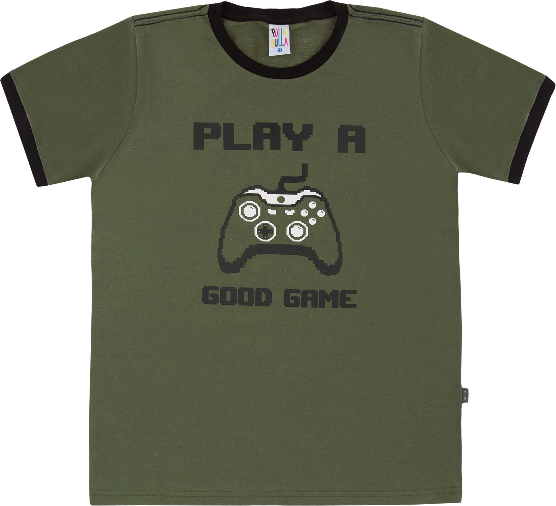 Camiseta  Pulla Bulla Good Games Militar