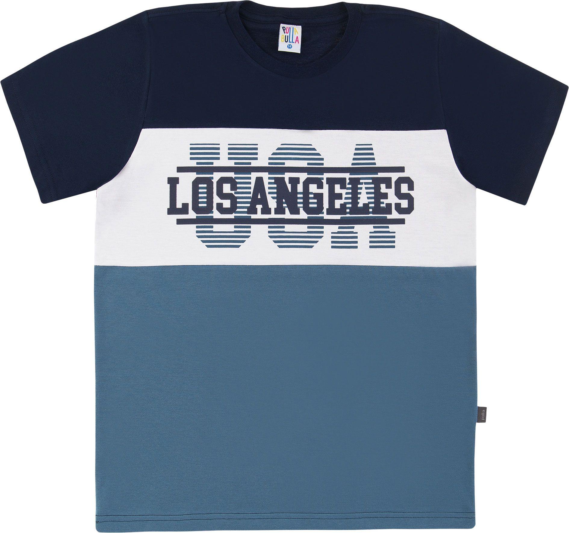 Camiseta Pulla Bulla Los Angeles Marinho