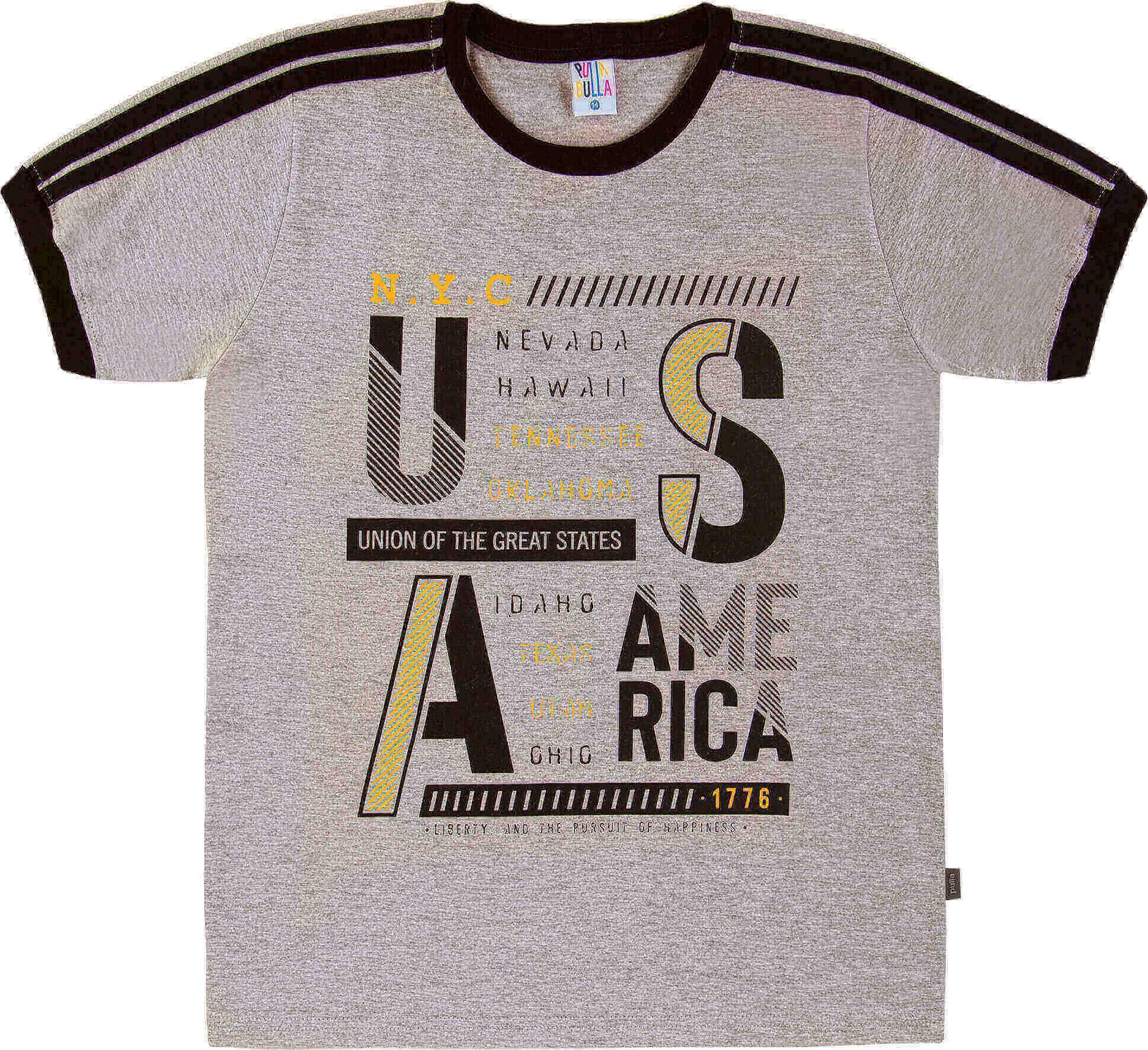 Camiseta Pulla Bulla U.S.A Mescla