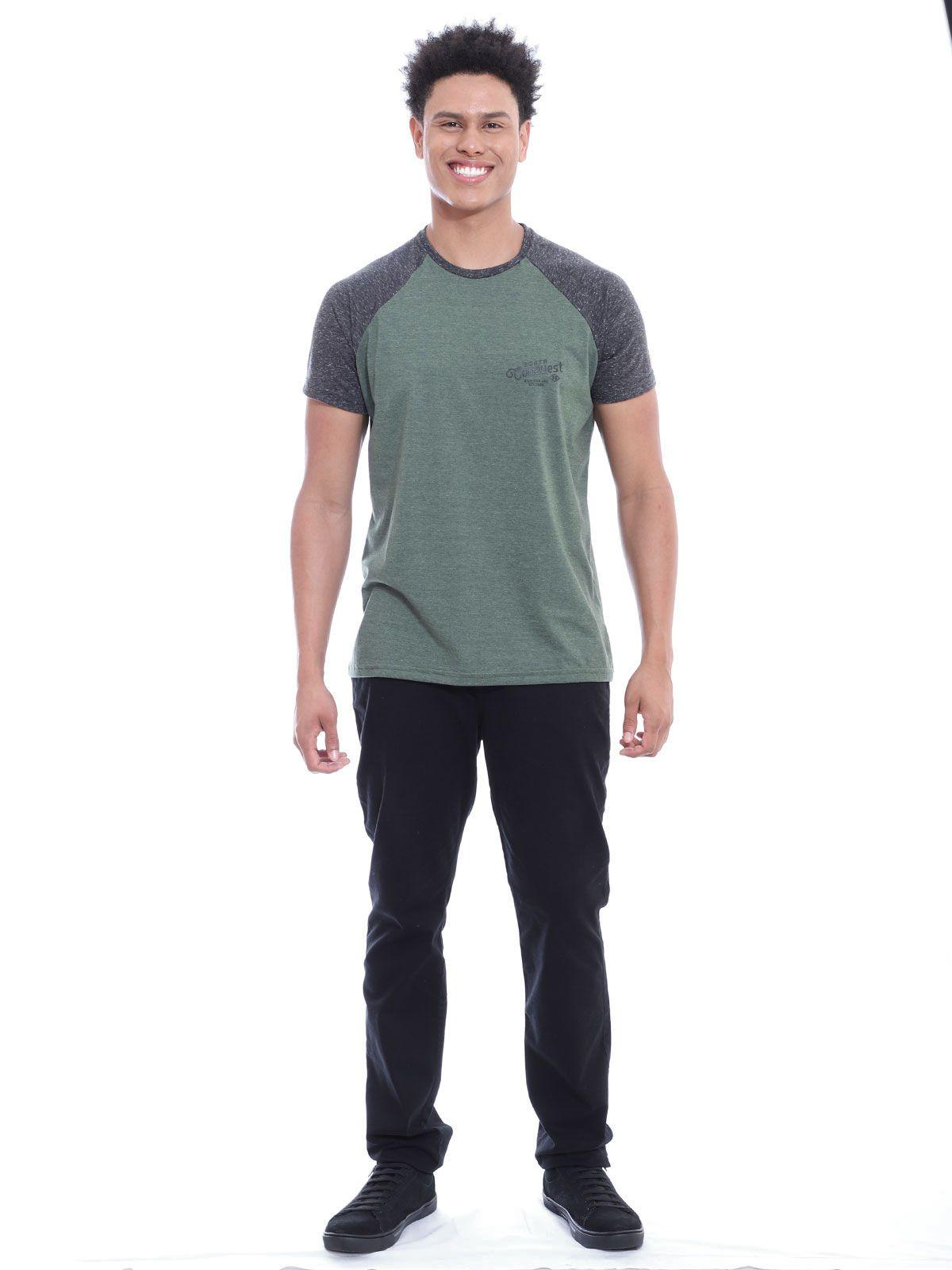 Camiseta Masculina Ragla Botone Anistia Militar