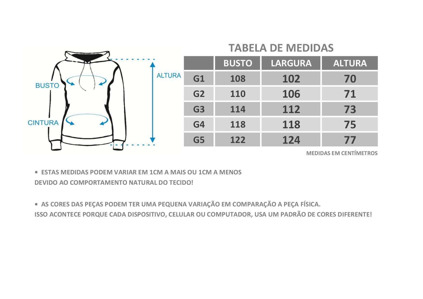 Casaco Plus Size de Moletom Forro do Capuz Estampado Bordo
