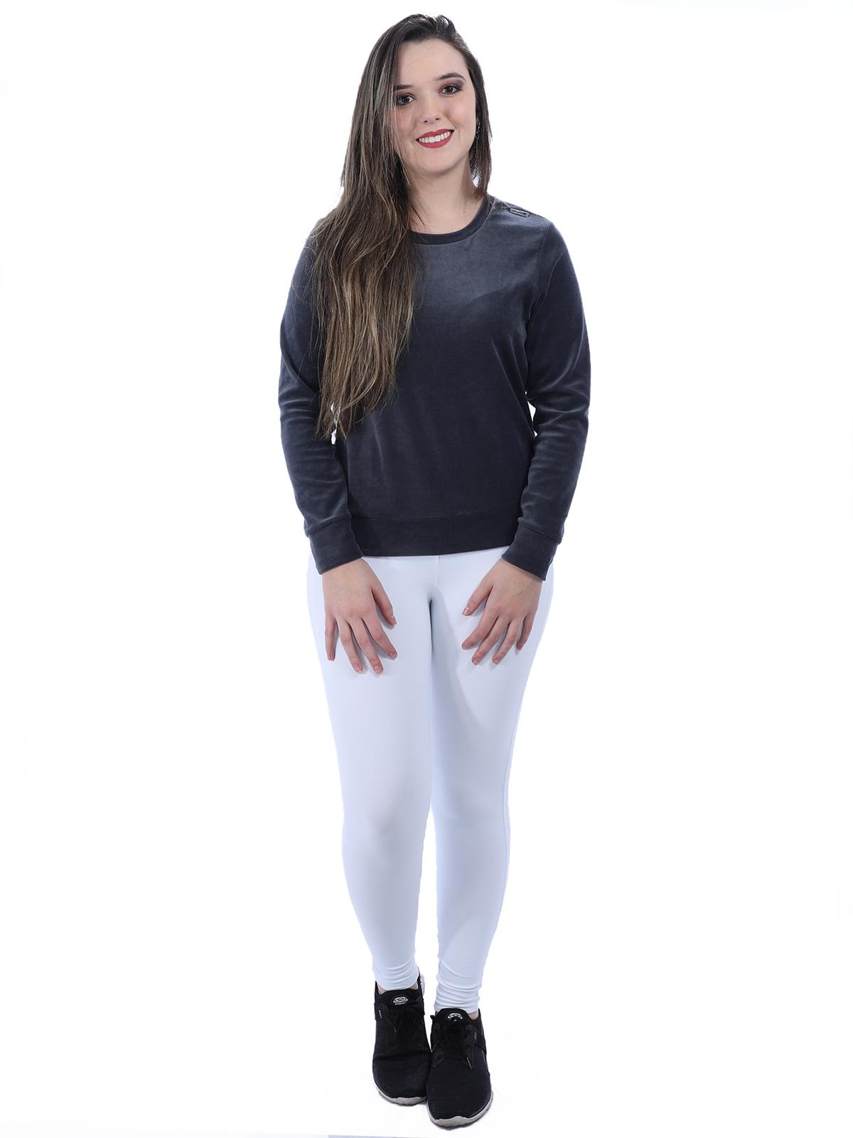 Kit 3 Calças Legging Grossa Feminina PRETA, BRANCA, MARROM