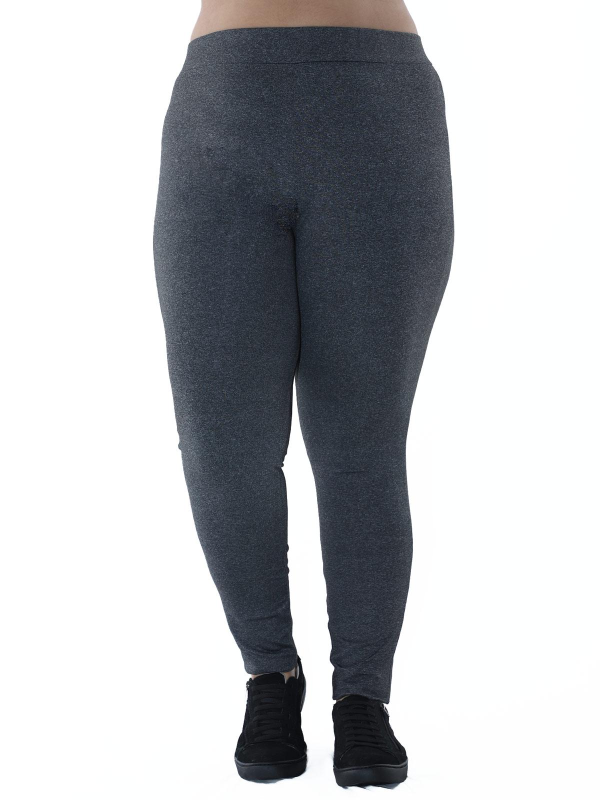 Kit 3 Calças Legging Plus Size 2 PRETA, MESCLA