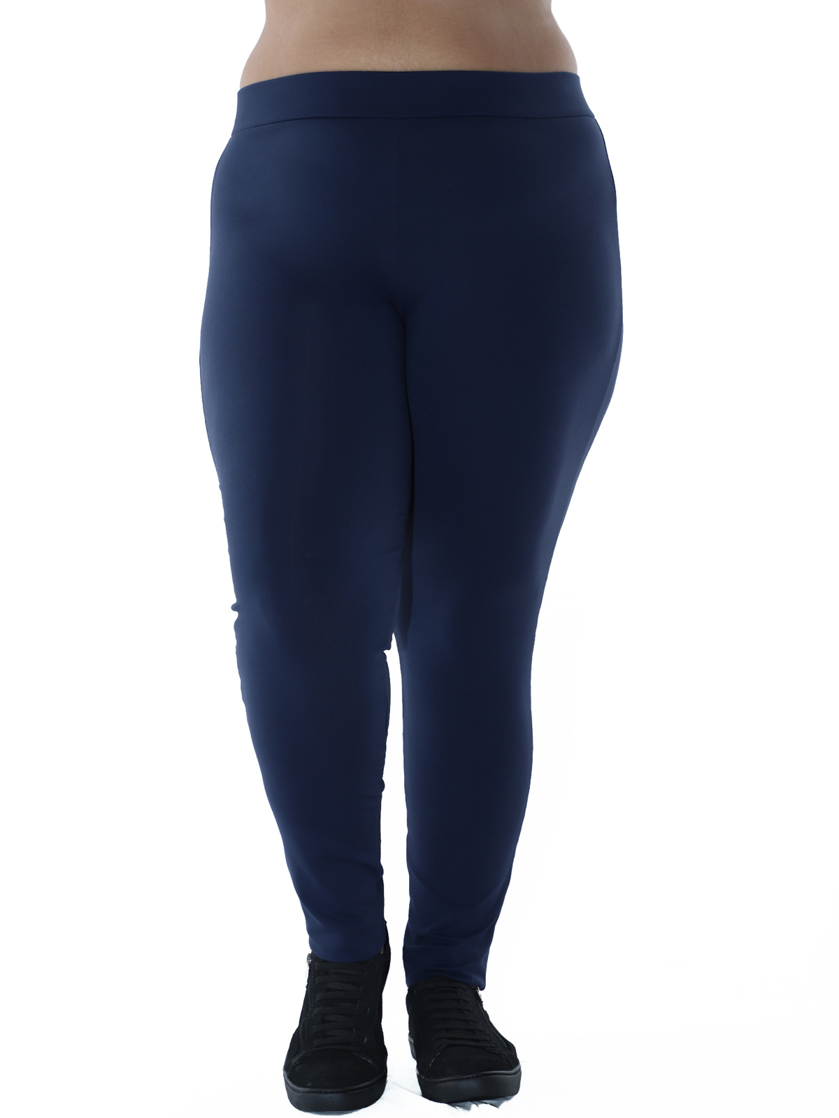 Kit 3 Calças Legging Plus Size PRETO, AZUL MARINHO, MESCLA