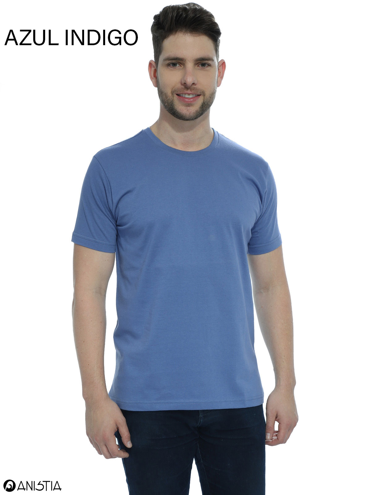 Kit 3 Camisetas Masculina Lisa Algodão Manga Curta Básica