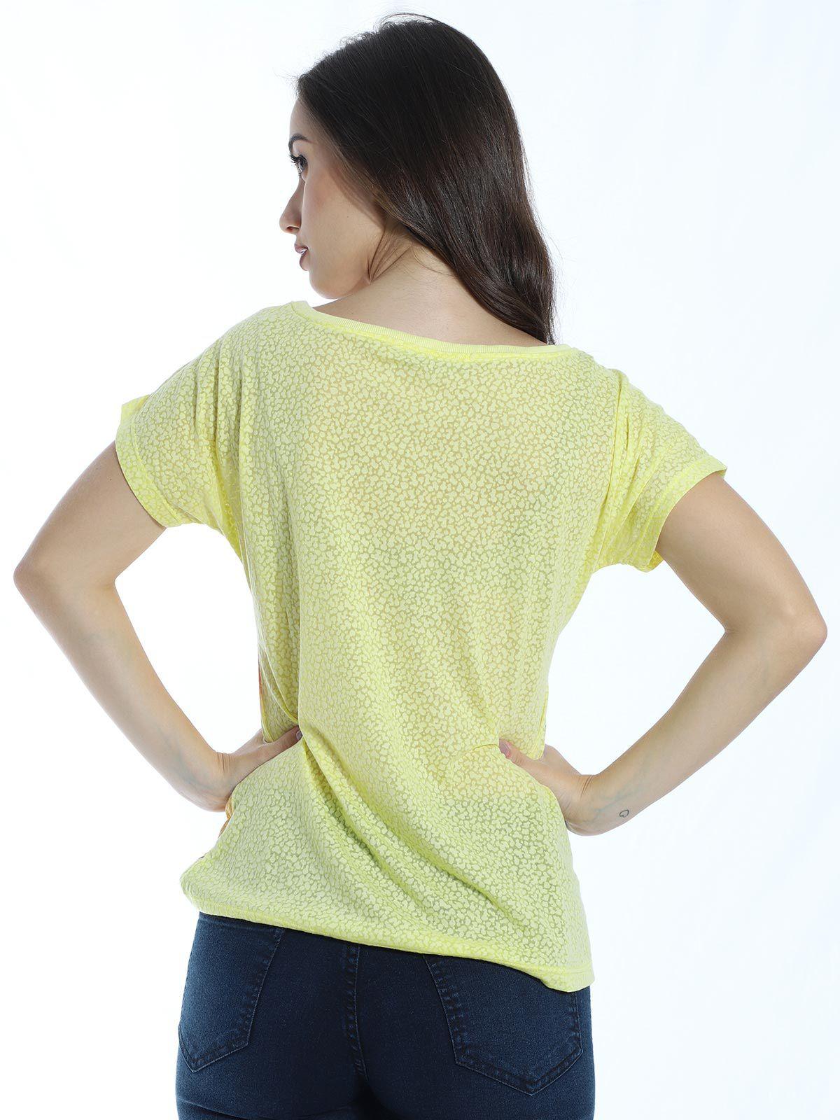 Mini Vest Devorê Anistia Amarelo