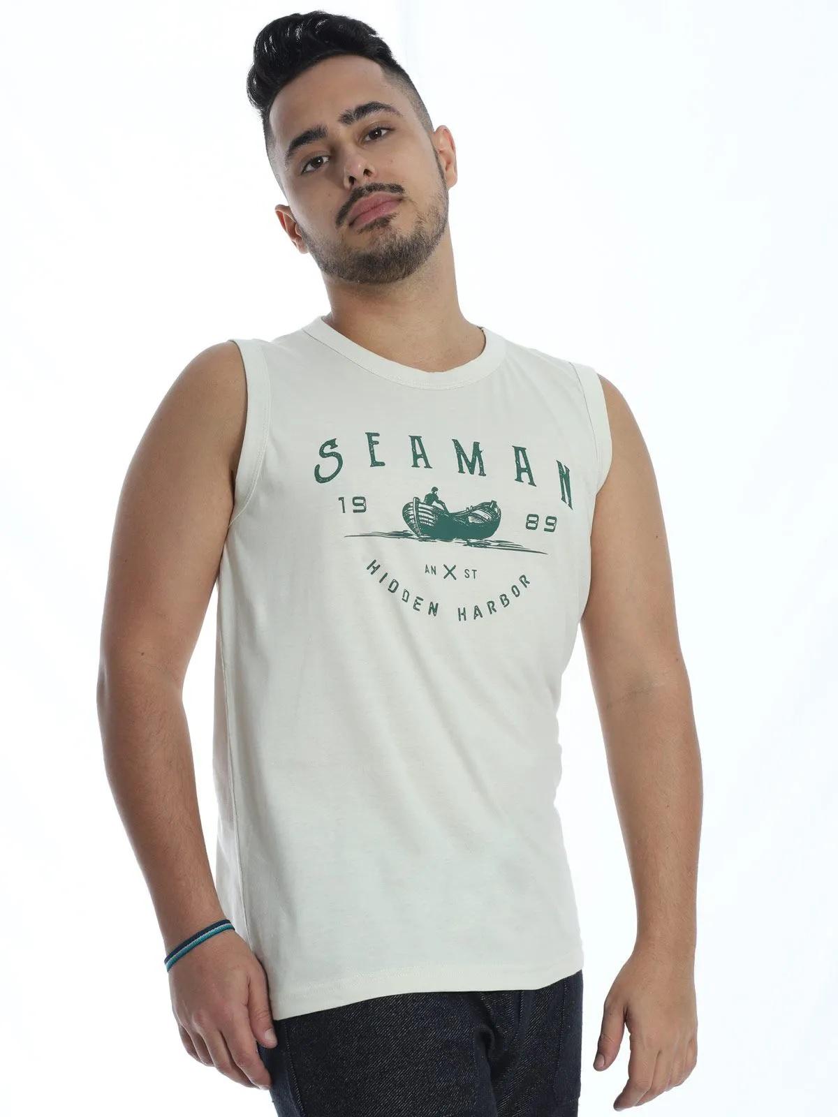 Regata Machão Masculina Anistia Sea Man Areia