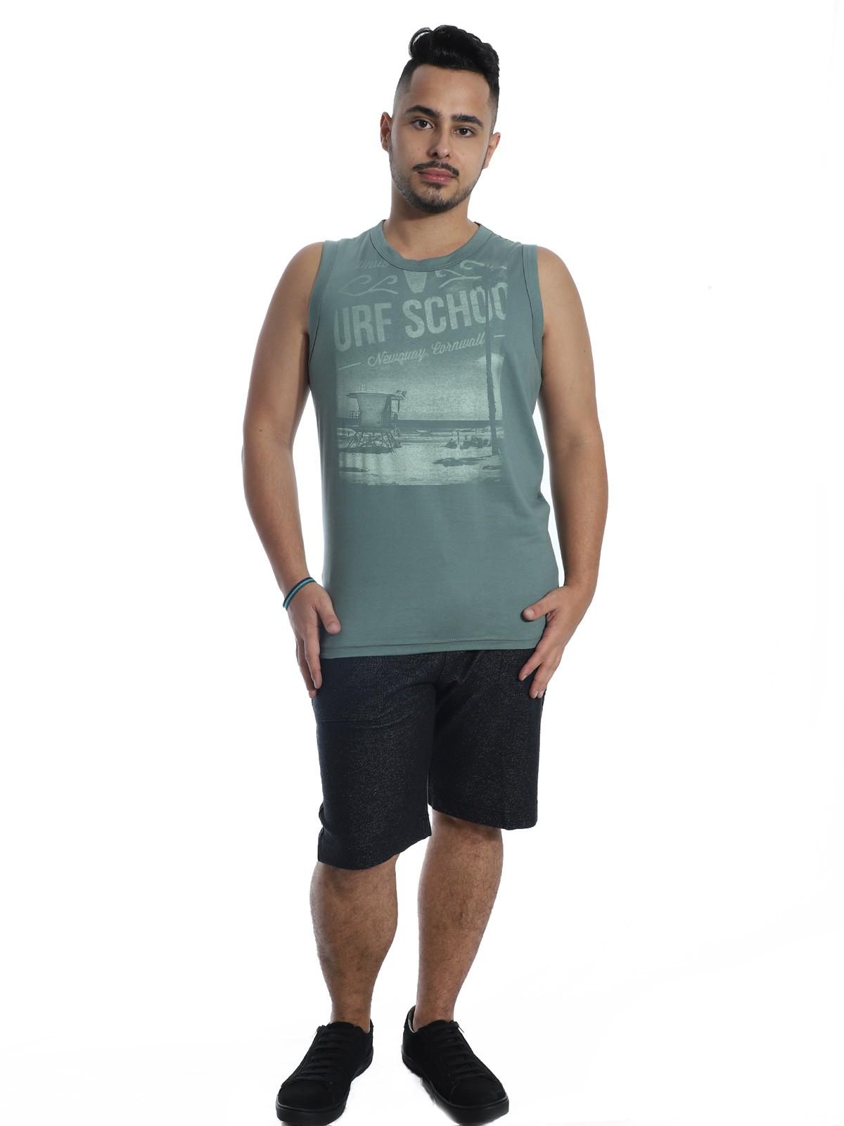 Regata Machão Masculino Anistia Surf School Concreto