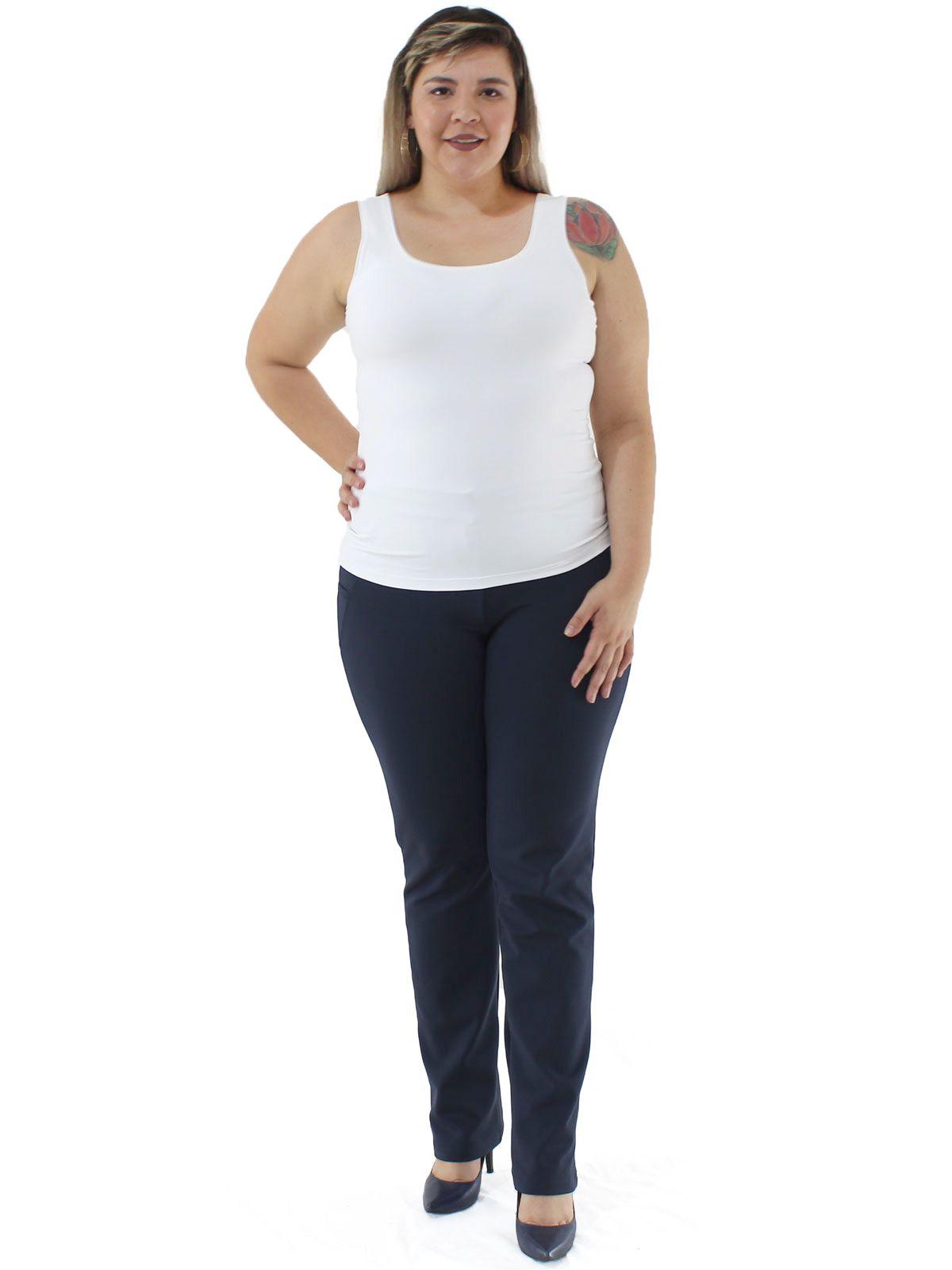 Regata Plus Size Feminina Lisa Fitness De Poliamida Branca