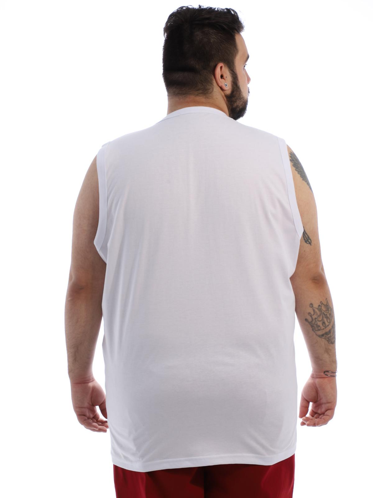 Regata Plus Size Masculina Algodão Estampa Surfin Branco