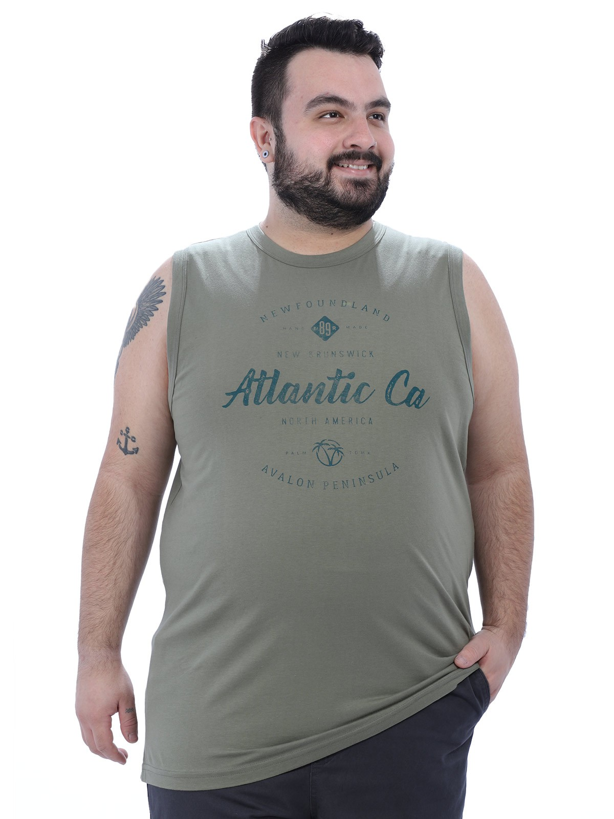 Regata Plus Size Masculina Machão Atlantic Anistia Bambú