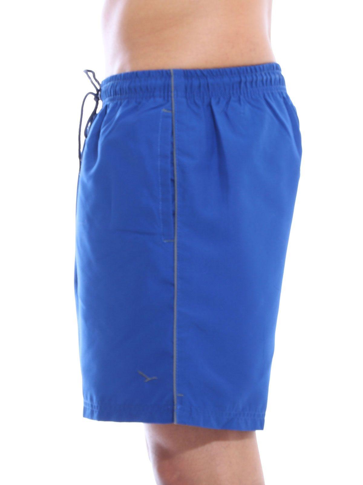 Short Anistia Bolso Traseiro Embutido Azul