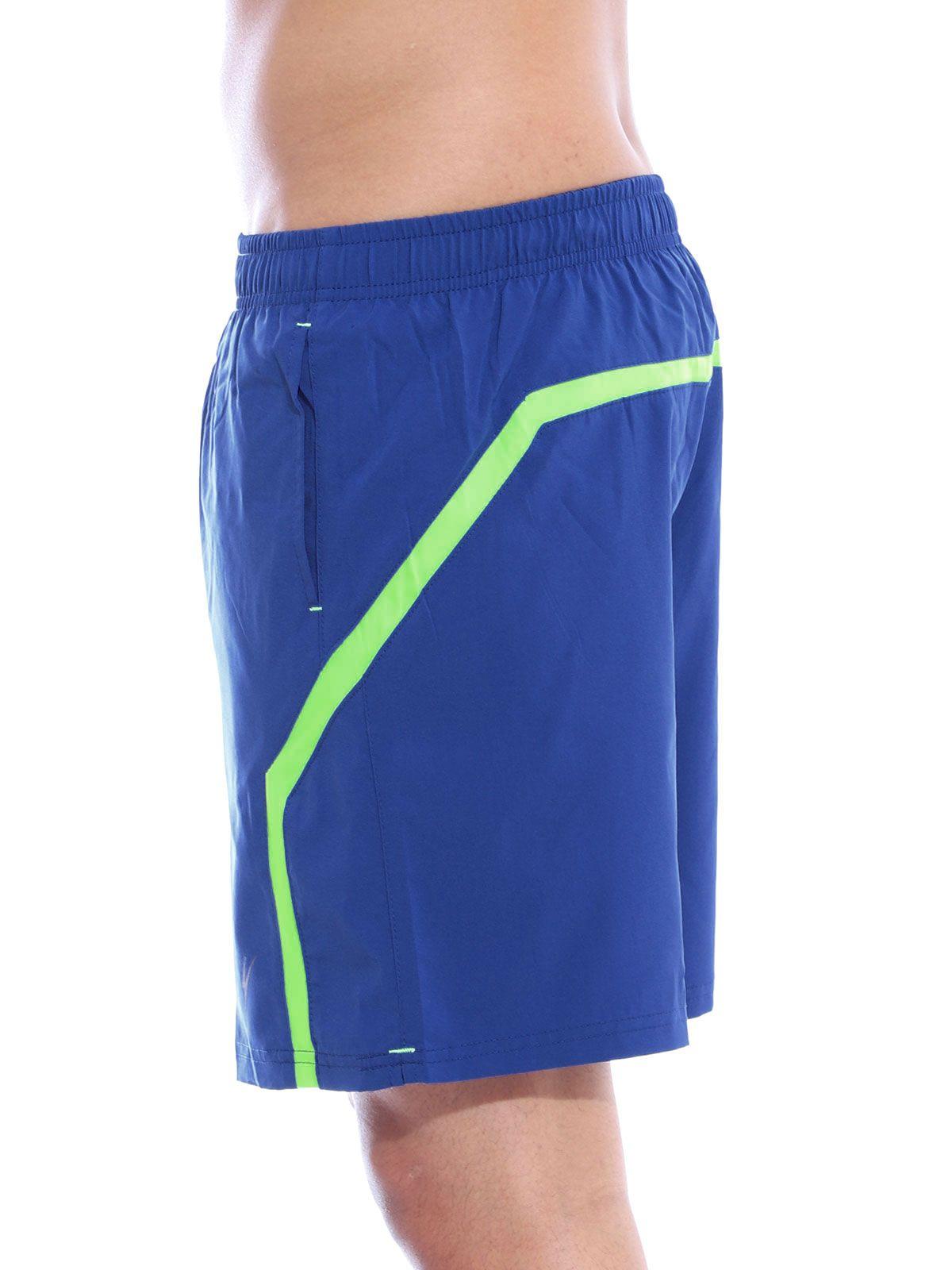 Short Fitness Anistia com Elástano Azul