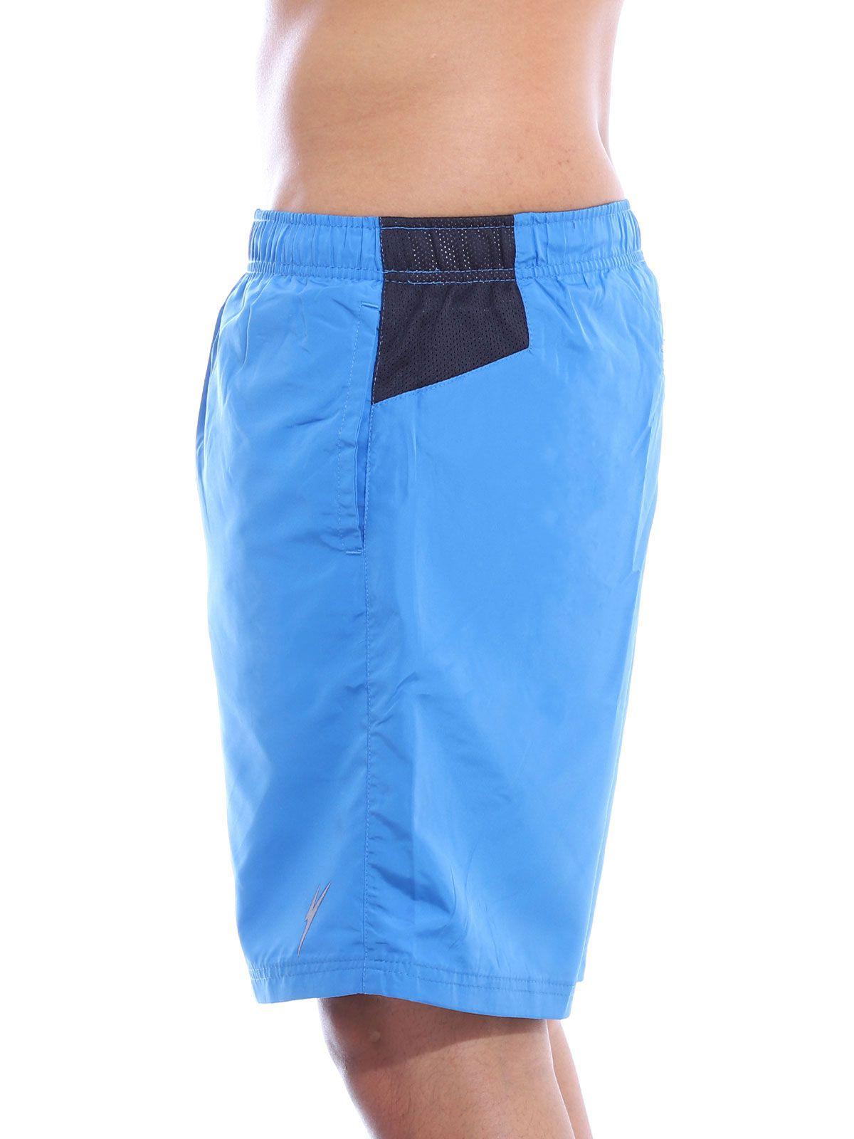 Short Fitness Anistia Traseiro com Zipper Azul