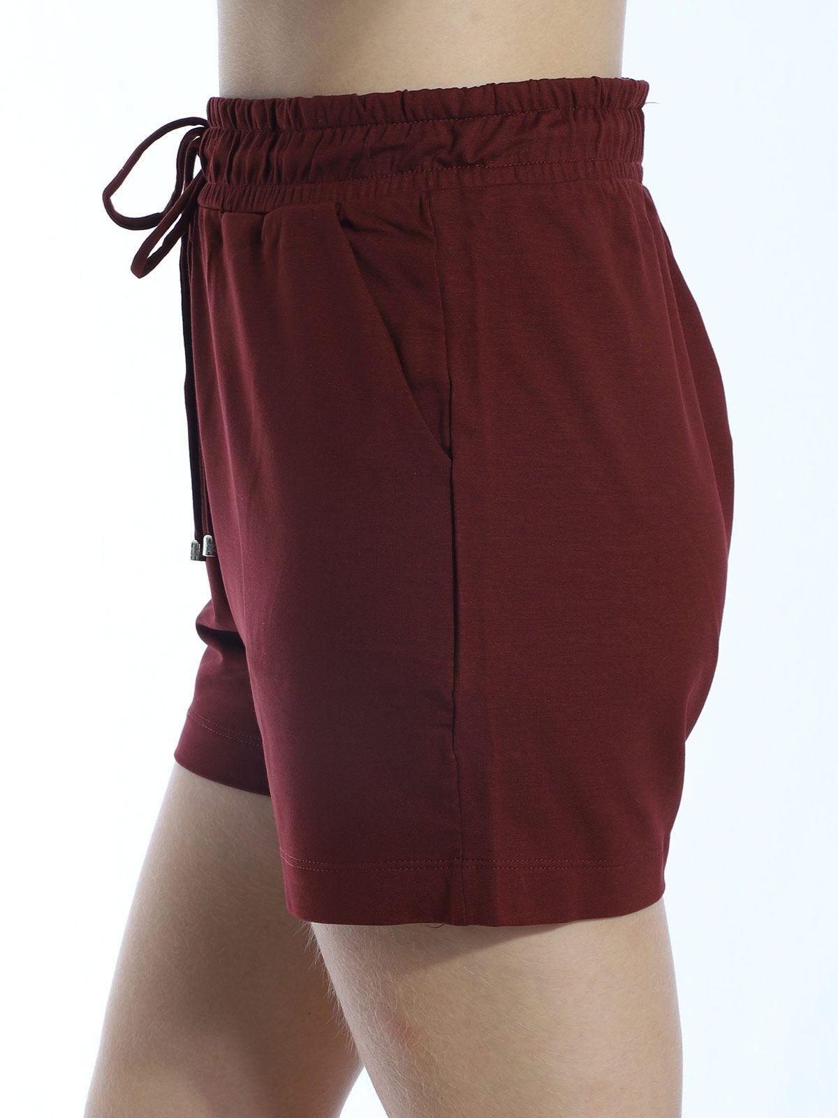 Shorts De Moletinho Com Lycra Anistia Bordo