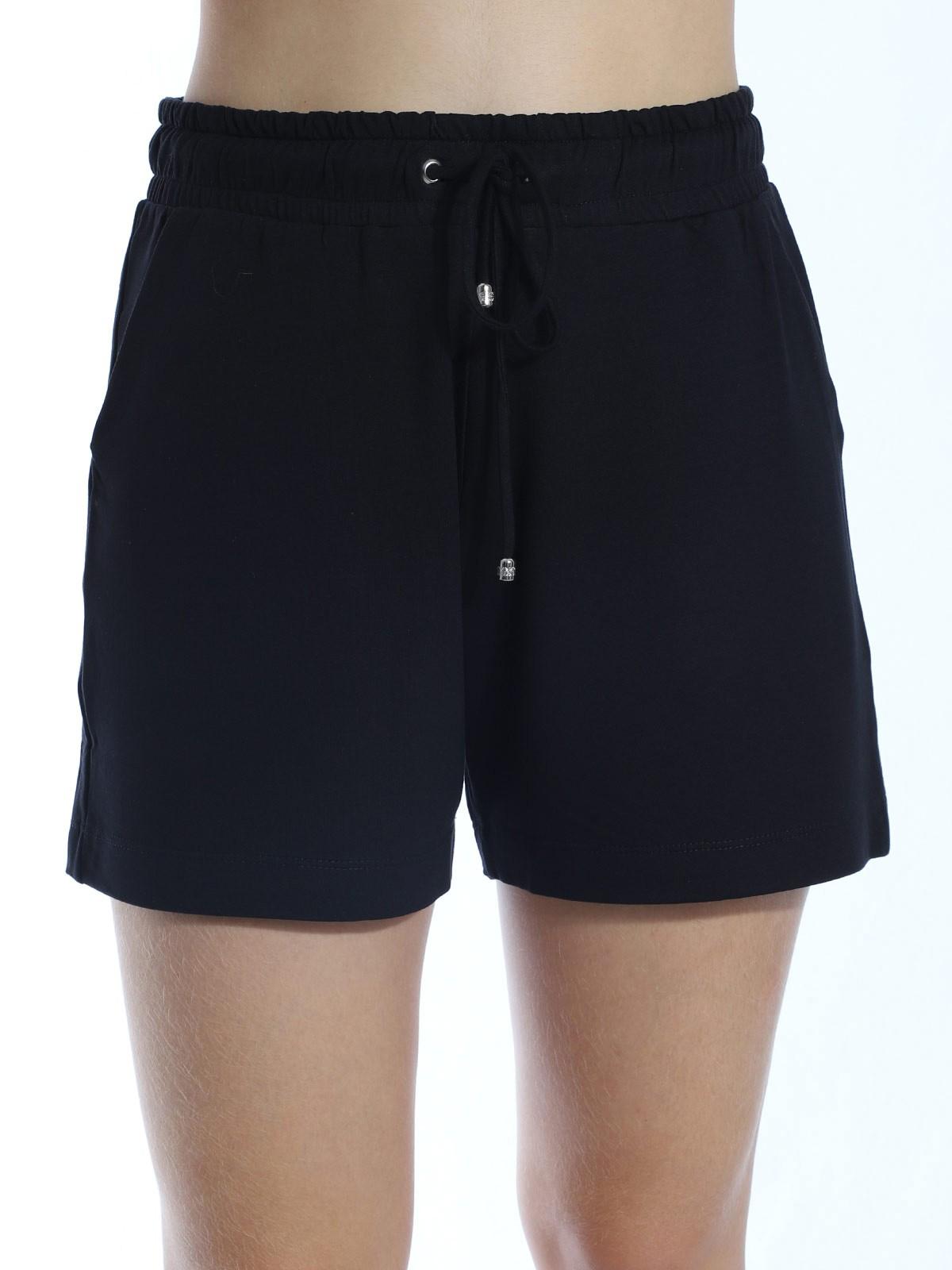 Shorts De Moletinho Com Lycra Liso Anistia Preto
