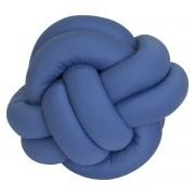 Almofada Decorativa Nó Azul Royal