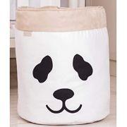 Cesto Organizador em Suede Panda