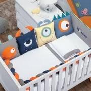 Kit de Berço Bichinhos Monster 9 peças