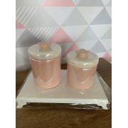 Kit Higiene 2 peças Coleção Flor Lisa Perolada
