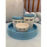 Kit Higiene 4 peças Coleção Cílios Azul