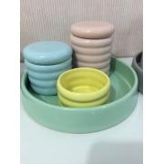 Kit Higiene 4 peças Coleção Color Candy