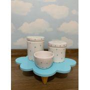 Kit Higiene 4 peças Coleção Nuvem